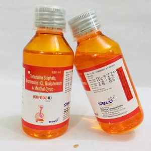 Terbutaline sulphate, Bromhexine HCI, Gualphenesin & Menthol Syrup