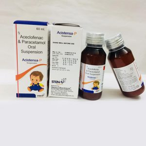 Aceclofenac & Paracetamol Oral suspension