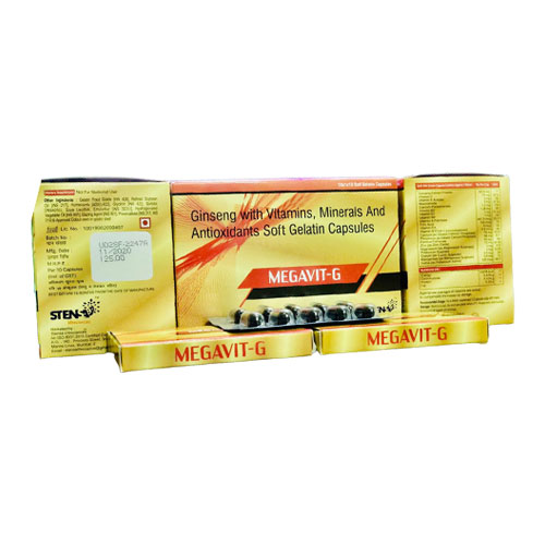 GINSENG WITH VITAMINS, MINERALS, AND ANTIOXIDANTS SOFT GELATIN CAPSULES