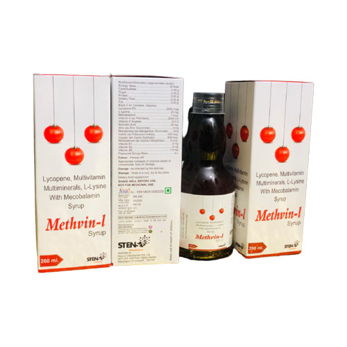 `LYCOPENE, L-LYSINE WITH MECOBALAMIN & MUTIVITAMIN MULTIMINEARLS SYRUP