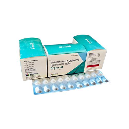 Mefenamic Acid 250 mg + Drotaverine 80 mg Tablet