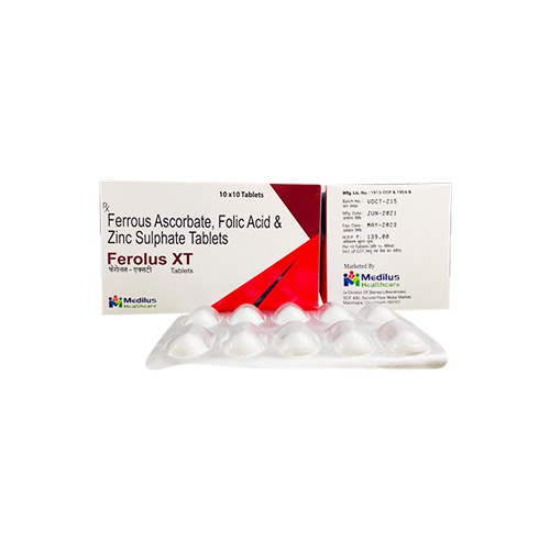 Ferrous Ascorbate, Folic Acid, & Zinc Tablet