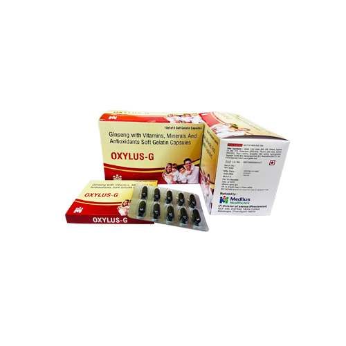 Ginseng With Vitamins, Minerals And Antioxidants Soft Gelatin Capsule