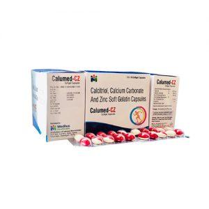Calcitriol, Calcium carbonate, Zinc soft gel Capsule